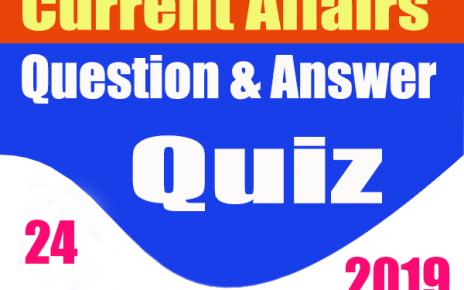 Hindi Current Affairs Quiz : 24 December 2019