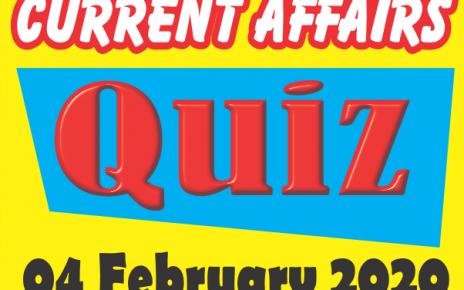 Current Affairs Quiz in Hindi 04 February 2020
