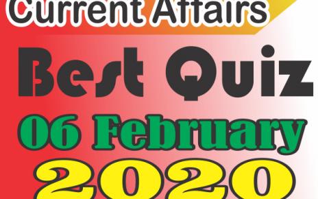 Current Affairs Quiz in Hindi 06 February 2020