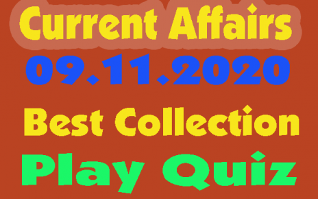 Current Affairs Quiz in Hindi 09 November 2020