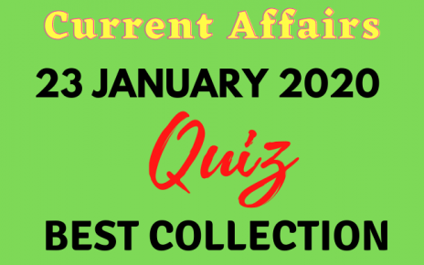 Current Affairs Quiz in Hindi 23 January 2021